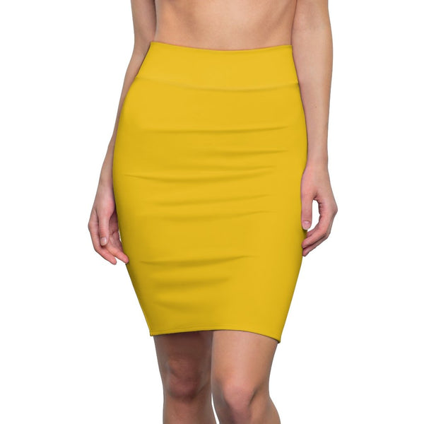 Yellow Women's Pencil Skirt - BnG Wear