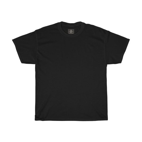 Unisex Round Neck Plain T-Shirt Black (Regular Fit)