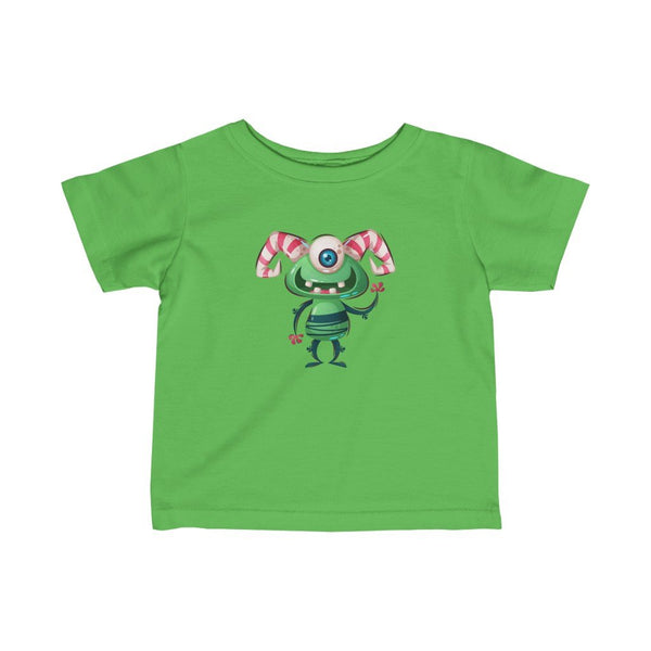 Infant Fine Jersey Printed Tee | Cute Monster Alien - BnG Wear