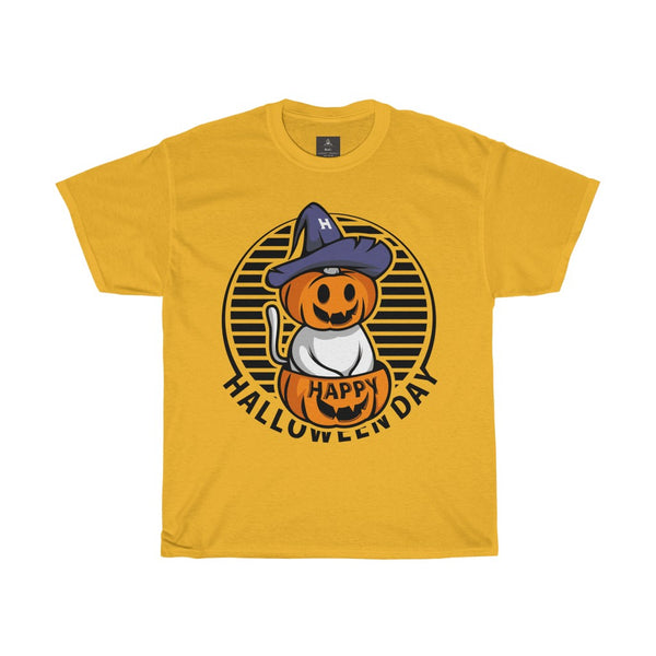 happy halloween day halloween pumpkin cat witch classic t shirt