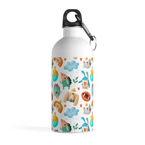 Cute Pattern Doodle Stainless Steel Water Bottle - BnG Wear