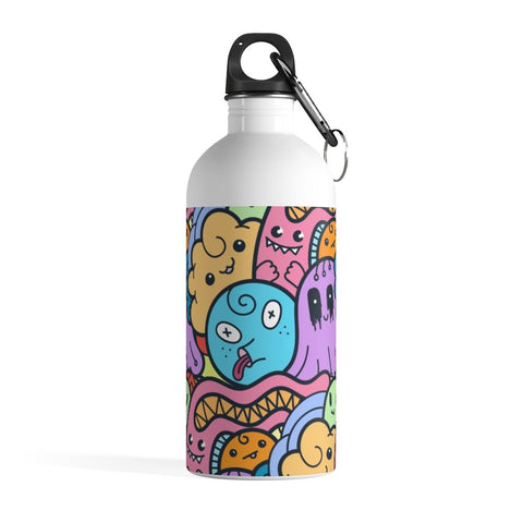 Cute Monster Doodle Stainless Steel Water Bottle - BnG Wear