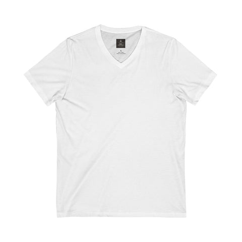 Unisex Jersey Short Sleeve White Tee (V- Neck)