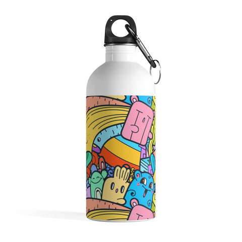 Emotional Doodle Stainless Steel Water Bottle - BnG Wear