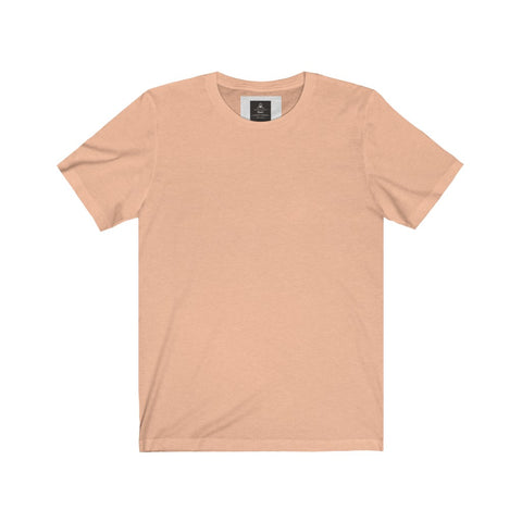 Unisex Jersey Tee Heather Peach (Short Sleeve)