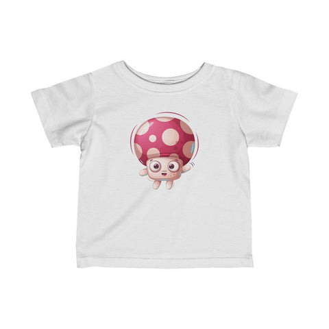Infant Fine Jersey Printed Tee |  Happy Mushroom - BnG Wear