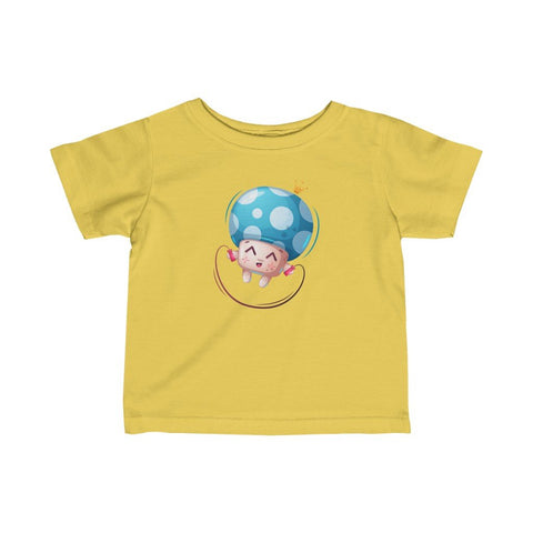 Infant Fine Jersey Printed Tee | Mushroom Skipping - BnG Wear