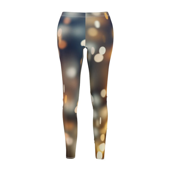Women's Cut & Sew Casual Leggings | Jeggings | City Light Abstract - BnG Wear