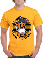 Happy Halloween Day Halloween Pumpkin cat witch Classic Unisex T-SHIRT