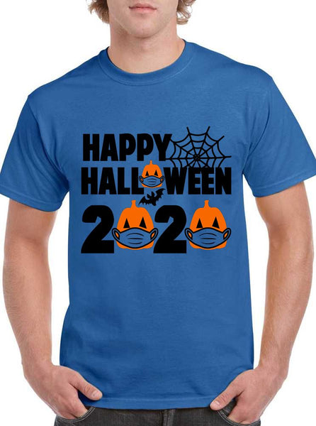 Happy Halloween 2020 Halloween Pumpkin Mask Classic Unisex T-SHIRT