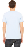 BNGwear Men's Short-Sleeve Crewneck ICE blue Cotton T-Shirt