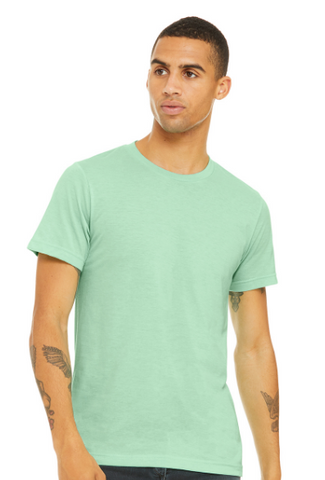 BNGwear Men's Short-Sleeve Crewneck Light Green Cotton T-Shirt