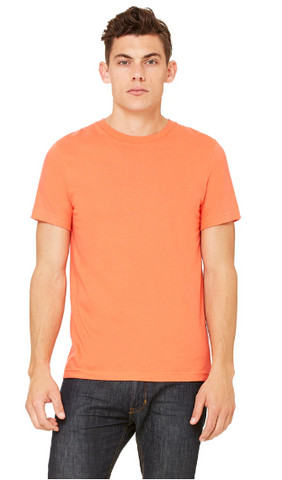 BNGwear Men's Short-Sleeve Crewneck Orange Cotton T-Shirt