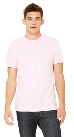 BNGwear Men's Short-Sleeve Crewneck  Soft Pink Cotton T-Shirt