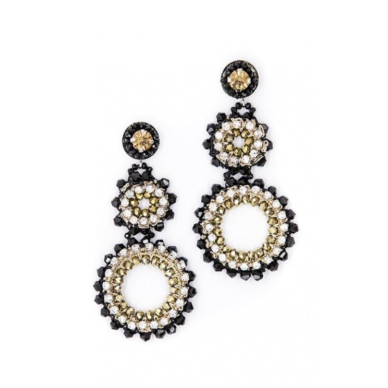 Catherine Jean Bella Circle Drop Beaded Earring