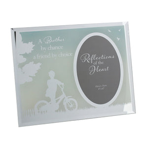 REFLECTIONS OF THE HEART OVAL MIRRORED FRAME - BROTHER