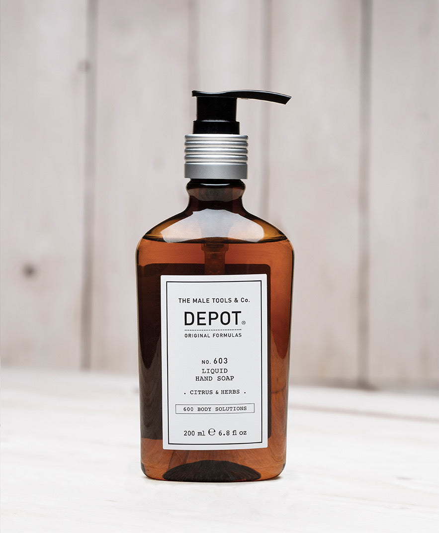 DEPOT MENS - NO. 603 LIQUID HAND SOAP  . CITRUS & HERBS .