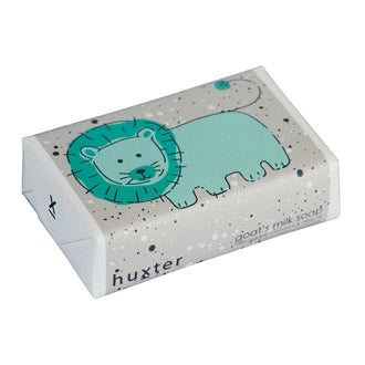 HUXTER SOAP - Green Lion w Spots Wrapped Soap - Goat's milk