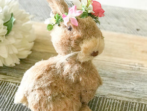 26CM - BOOTY BUNNY RABBIT - FEMALE - WITH WREATH