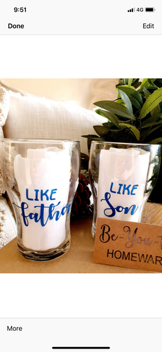 Stemless Glasses - FATHER & SON GIFT PACK
