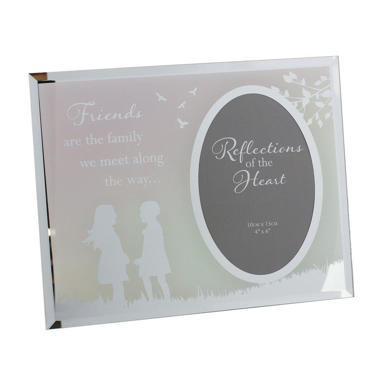 REFLECTIONS OF THE HEART OVAL MIRRORED FRAME - FRIENDS