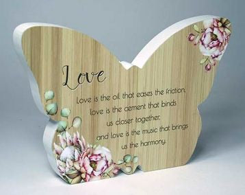 Butterfly Plaque - Love