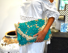 Load image into Gallery viewer, ZODA CRYSTAL TURQUOISE CLUTCH