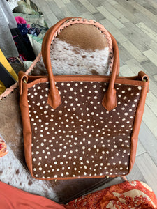 Leather and Hide Spotty Bag
