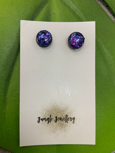 Stud Earrings - Fireball