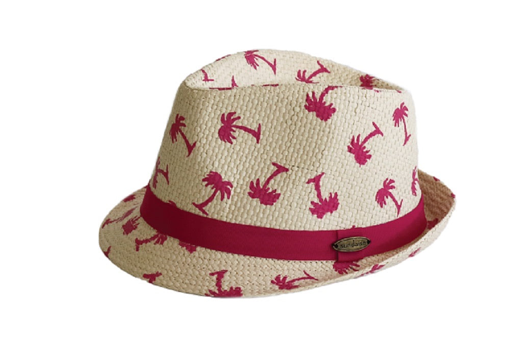 FEDORA - HOT PINK PALM TREES