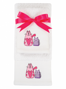 Cats Hand Towel Set