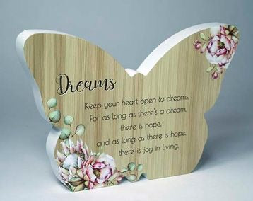 Butterfly Plaque - Dreams