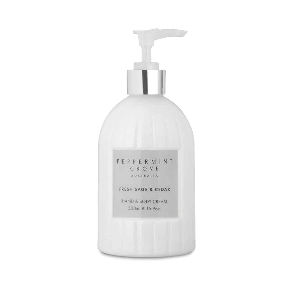FRESH SAGE & CEDAR HAND & BODY CREAM 500ML