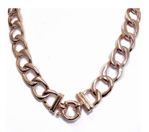 Chunky Chain Pendant Keeper Necklace