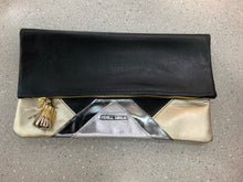 Load image into Gallery viewer, BLACK & GOLD CLUTCHES