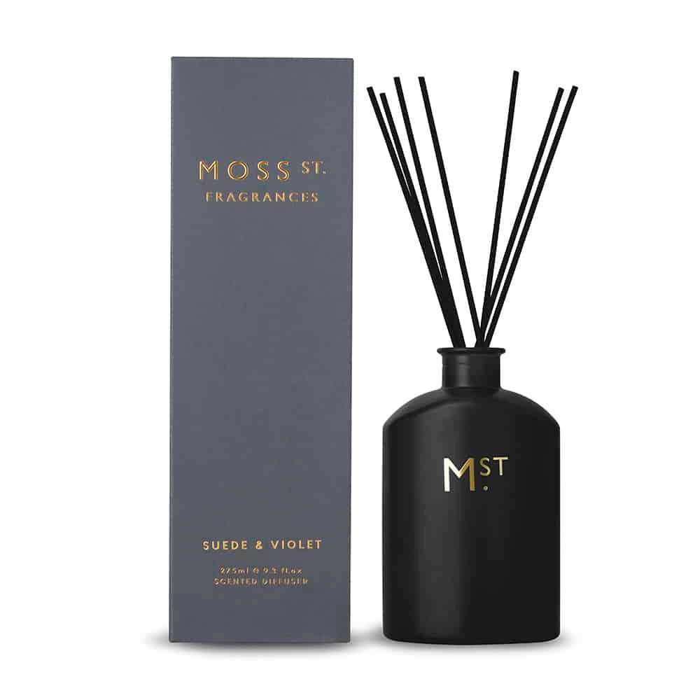 MOSS STREET - SUEDE & VIOLET SCENTED DIFFUSER