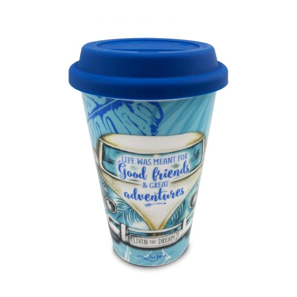 Travel Mug Blue Kombi TM06