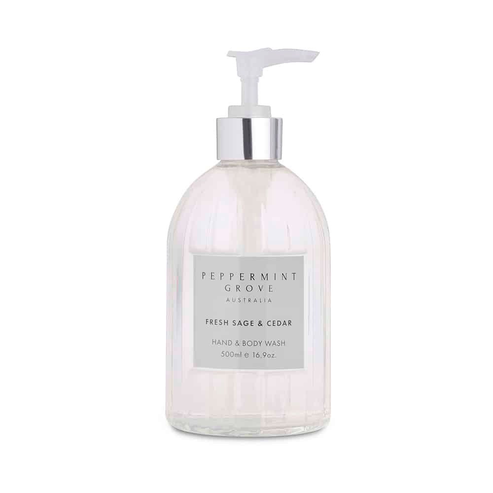 FRESH SAGE & CEDAR HAND & BODY WASH 500ML