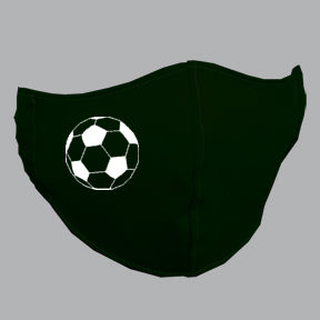 Black Mask with Soccer Ball