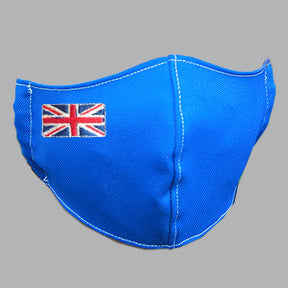 Royal Blue Mask with Union Jack Embroidery