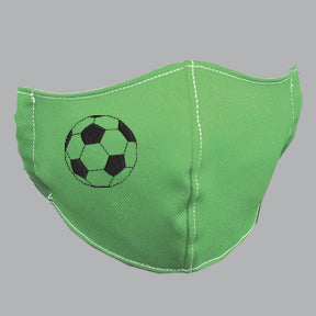 Green Mask with Soccer Ball