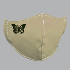 Khaki Mask with Butterfly