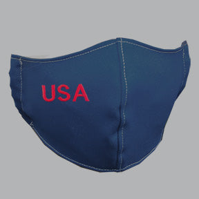 Navy Mask with USA Embroidery