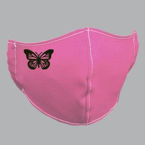 Pink Mask with Butterfly