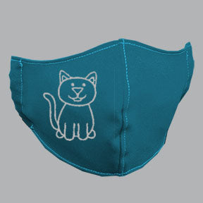 Robin Blue Mask with White Cat