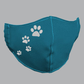 Robin Blue Mask with White Paw Prints