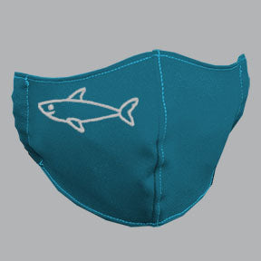 Robin Blue Mask with White Shark