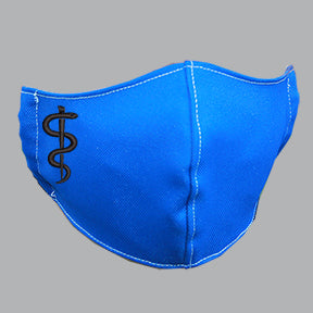 Royal Blue Mask with Medical Embroidery