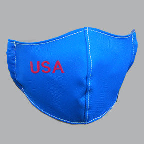 Royal Blue Mask with USA Embroidery