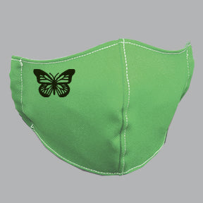 Green Mask with Butterfly
